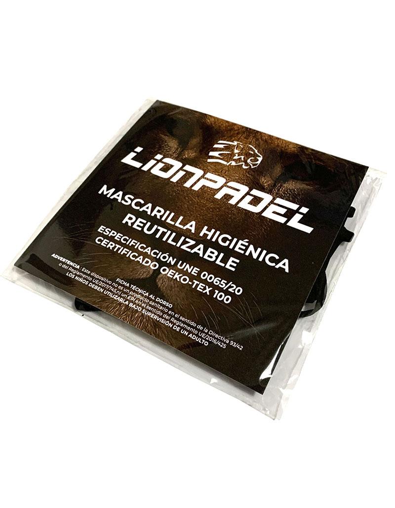 MASCARILLA LIONPADEL HIGIÉNICA REUTILIZABLE UNE 0065/20