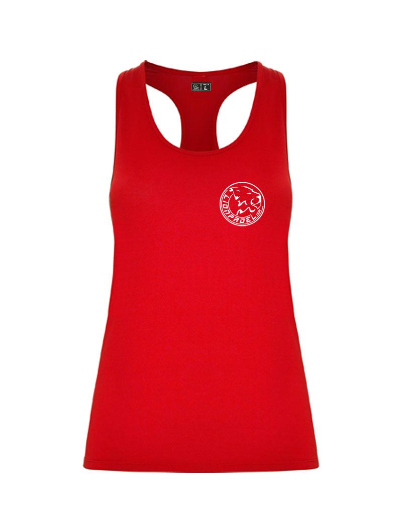 Camiseta Tecnica Roja Mujer Padel